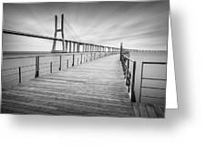Vasco Da Gama Bridge Greeting Card