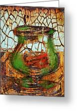 Vase And Candle Greeting Card by Russell Pierce