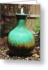 Vase Fountain Greeting Card