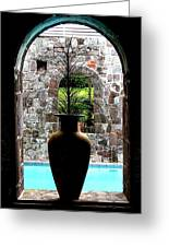 Vase In A Window Greeting Card