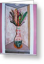 Vase In Cubby Hole Greeting Card