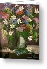 Vase Of Flowers #1 Greeting Card