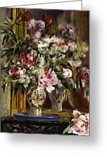 Vase Of Flowers, 1871  Greeting Card