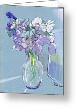 Vase Of Flowers In The Sun Greeting Card