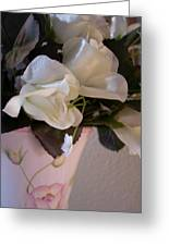 Vase Of Roses Greeting Card