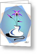 Vase Two-color Greeting Card