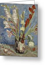 Vase With Gladioli And Chinese Asters Paris, August - September 1886 Vincent Van Gogh 1853  1890 Greeting Card