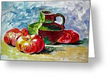 Vase With Tomatoes Greeting Card