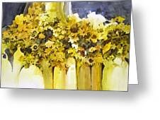 Vases Full Of Blooms    Greeting Card