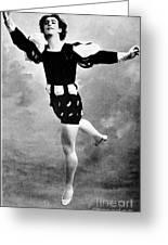 Vaslav Nijinsky, Ballet Dancer Greeting Card