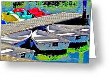 Boats Summer Vasona Park Greeting Card