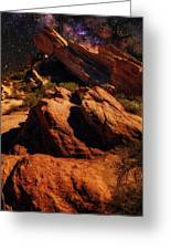 Vasquez Rocks And Stars Greeting Card