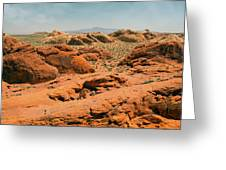 Vast Desert Valley Of Fire Greeting Card