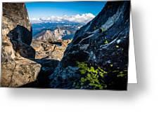 Vastly Majestic High Sierras Greeting Card