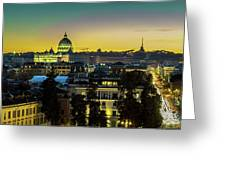 Vatican At Sunset Greeting Card