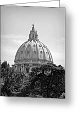 Vatican City Dome Greeting Card