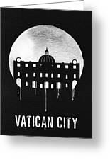 Vatican City Landmark Black Greeting Card