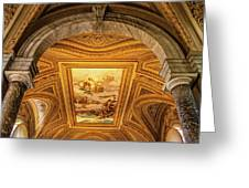 Vatican Museum Painted Ceiling Greeting Card