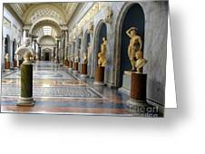Vatican Museums Interiors Greeting Card by Stefano Senise