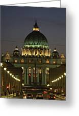 Vatican, Rome, Italy.  Night View Greeting Card