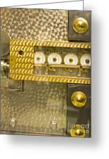 Vault Door Timing Device Greeting Card