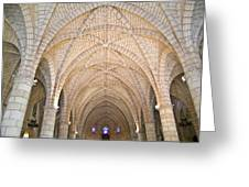 Vaulted Ceiling And Arches Greeting Card
