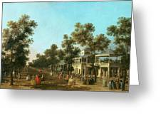 Vauxhall Gardens The Grand Walk Greeting Card