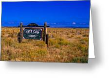 Vaya Con Dios Sign San Luis Valley Co Greeting Card