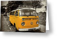 Vdub In Orange  Greeting Card