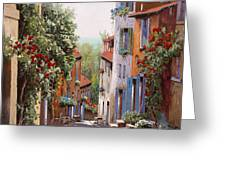 vecchia Cagnes Greeting Card