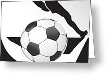 Vector Soccer Ball. Corner Kick Graphic Symbol Greeting Card