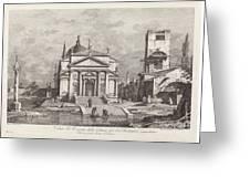 Veduta Del Prospetto Della Chiesa Del Ss. Redentore Greeting Card
