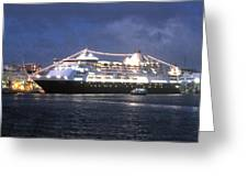 Veendam In Bermuda Greeting Card