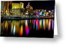Vegas Reflections Greeting Card