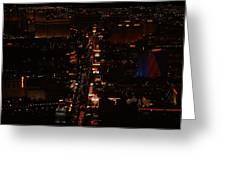 Vegas Strip Greeting Card by D R TeesT