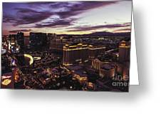 Vegas Sunset Greeting Card