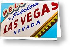 Vegas Tribute Greeting Card