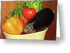 Vegetable Bowl Greeting Card