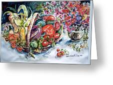 Vegetable Harvest Greeting Card