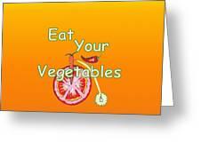 Vegetable Kitchen Decor Greeting Card