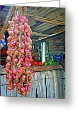 Vegetable Stand 2 Greeting Card