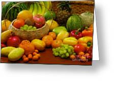 Vegetables And Fruits  Greeting Card