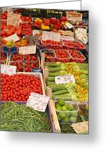 Vegetables At Italian Market Greeting Card