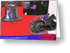 Vehicle Liberty Bell Paul Revere Flag Bicentennial Of Constitution Tucson Arizona 1987-2015 Greeting Card