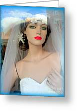 Veiled Thoughts Greeting Card