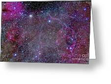 Vela Supernova Remnant In The Center Greeting Card