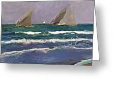 Velas En El Mar. Valencia Greeting Card