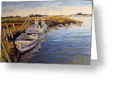 Veldrift Boats Greeting Card by Yvonne Ankerman
