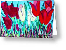 Velvet Tulips Greeting Card