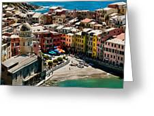 Venazza Cinque Terre Italy Greeting Card